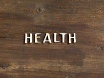 Le wod de la santé sur le bois Images stock