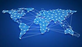 Le World Wide Web se relient sur terre Image libre de droits