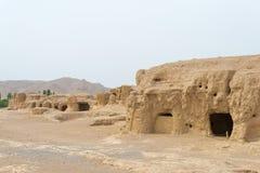 Le XINJIANG, CHINE - 4 mai 2015 : Site de ville de Yar (ruines de Jiaohe) Photographie stock