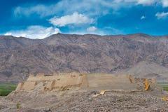 Le XINJIANG, CHINE - 21 mai 2015 : Site en pierre de ville de Tashkurgan a Photos stock
