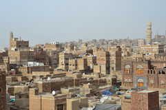 Le Yémen, centre historique de Sana'a Photos stock