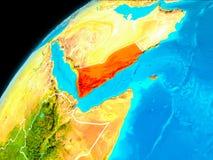Le Yémen de l'espace Photo stock