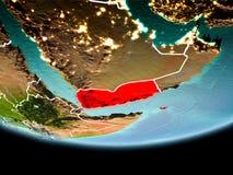 Le Yémen en rouge le soir Photos libres de droits