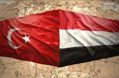 Le Yémen et la Turquie Image libre de droits