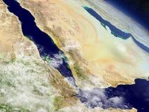 Le Yémen, l'Érythrée et le Djibouti de l'espace Photo libre de droits