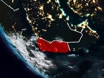 Le Yémen la nuit de l'espace illustration de vecteur