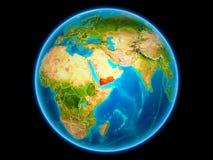 Le Yémen sur terre de l'espace illustration libre de droits