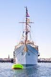 Le yacht est la reine du Danemark Photos libres de droits