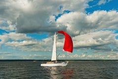 Le yacht participant au regatta Image libre de droits
