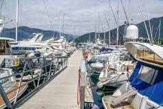 Le yacht s'est garé à Porto Monténégro, Tivat, Monténégro photo libre de droits