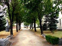 Le yard de Bartolomeu (Bartholomä, Bartholomew) a enrichi l'église, Saxon, Roumanie Photos libres de droits