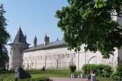 Le Yaroslavl Kremlin est le point de repère principal de la ville incluse dans l'anneau d'or de la Russie Photographie stock