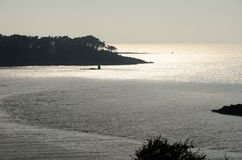 Le Yaudet, Brittany, France at sunset. Stock Images