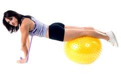 Le yoga de bande de bout droit établissent Images stock