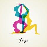 Le yoga pose la silhouette Photographie stock libre de droits