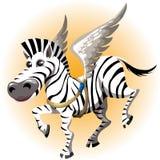 Le zèbre de Pegasus Images libres de droits