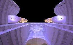 Le zénith entre les minarets image libre de droits