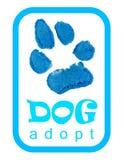 le zampe del cane, adottano Fotografie Stock Libere da Diritti