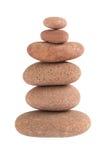 Le zen lapide l'équilibre D'isolement au-dessus du blanc Images stock