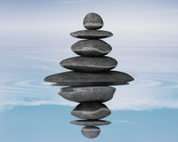 Le zen lapide le concept d'équilibre Images stock