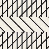 Le zigzag raye le modèle sans couture géométrique illustration stock