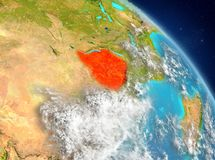 Le Zimbabwe de l'orbite Images libres de droits