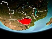 Le Zimbabwe en rouge le soir Photographie stock