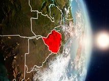 Le Zimbabwe pendant le lever de soleil Photos libres de droits