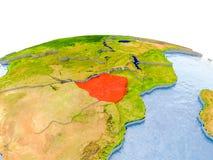 Le Zimbabwe sur le modèle de la terre Photographie stock libre de droits