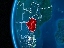 Le Zimbabwe sur terre la nuit Photographie stock libre de droits