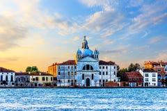 Le Zitelle Church van Venetië, Italië, mening van het overzees stock afbeeldingen