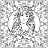 Le zodiaque décoratif se connectent le fond de modèle Illustration Libre de Droits
