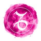 Le zodiaque de Capricorne se connectent le fond d'aquarelle illustration stock