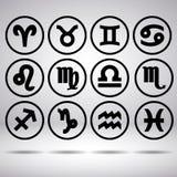 Le zodiaque signe dedans le cercle Image stock