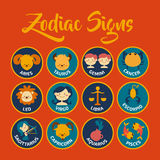 Le zodiaque signe l'art de vecteur Images libres de droits