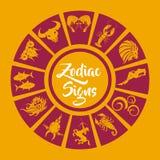 Le zodiaque signe l'art de vecteur Photos stock