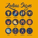 Le zodiaque signe l'art de vecteur Image stock