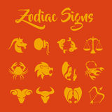 Le zodiaque signe l'art de vecteur Photos libres de droits