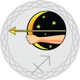 Le zodiaque signe le Sagittaire illustration de vecteur