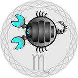 Le zodiaque signe le Scorpion illustration stock