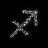 Le zodiaque stars le Sagittaire Photographie stock