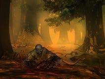 Le zombi brouille d'un lac Photographie stock libre de droits