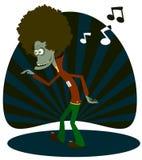Le zombie il danzatore illustrazione vettoriale