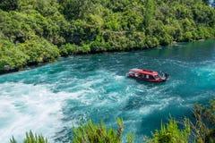 Le zone aurifere centrali di Otago scaturiscono giro sul fiume di Kawarau Fotografia Stock