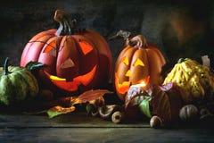 Le zucche di Halloween Immagine Stock