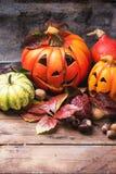 Le zucche di Halloween Fotografie Stock