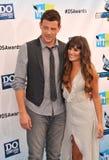 Lea Michele, Cory Monteith photos stock
