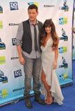 Lea Michele, Cory Monteith Lizenzfreie Stockfotos