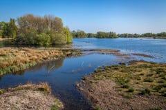 Lea-rivier dichtbij Londen stock foto's