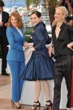 Lea Seydoux & Amira Casar & Aymeline Valade stock foto's